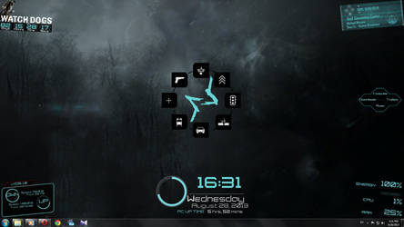 Watch Dogs Rainmeter Skin by MortalSaw