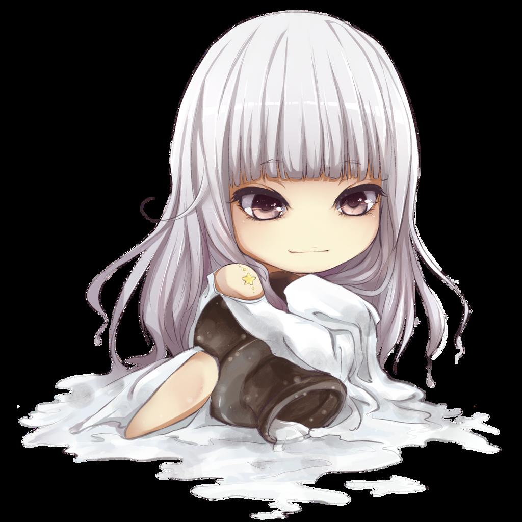 The Aquarius girl chibi by yibingling on DeviantArt