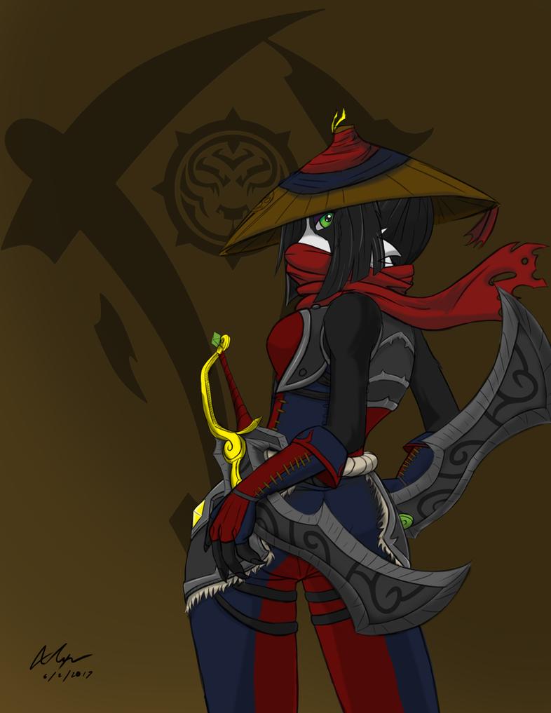 Mei-lin, a Shadopan of Horde by Evanzblack