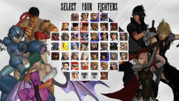 Final Fantasy X Capcom Character Select