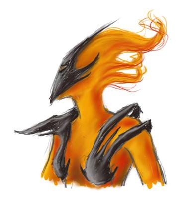 Flame Atronach by Yanathrae