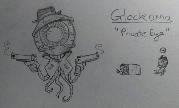 Glockoma (Enter the Gungeon Enemy Idea)