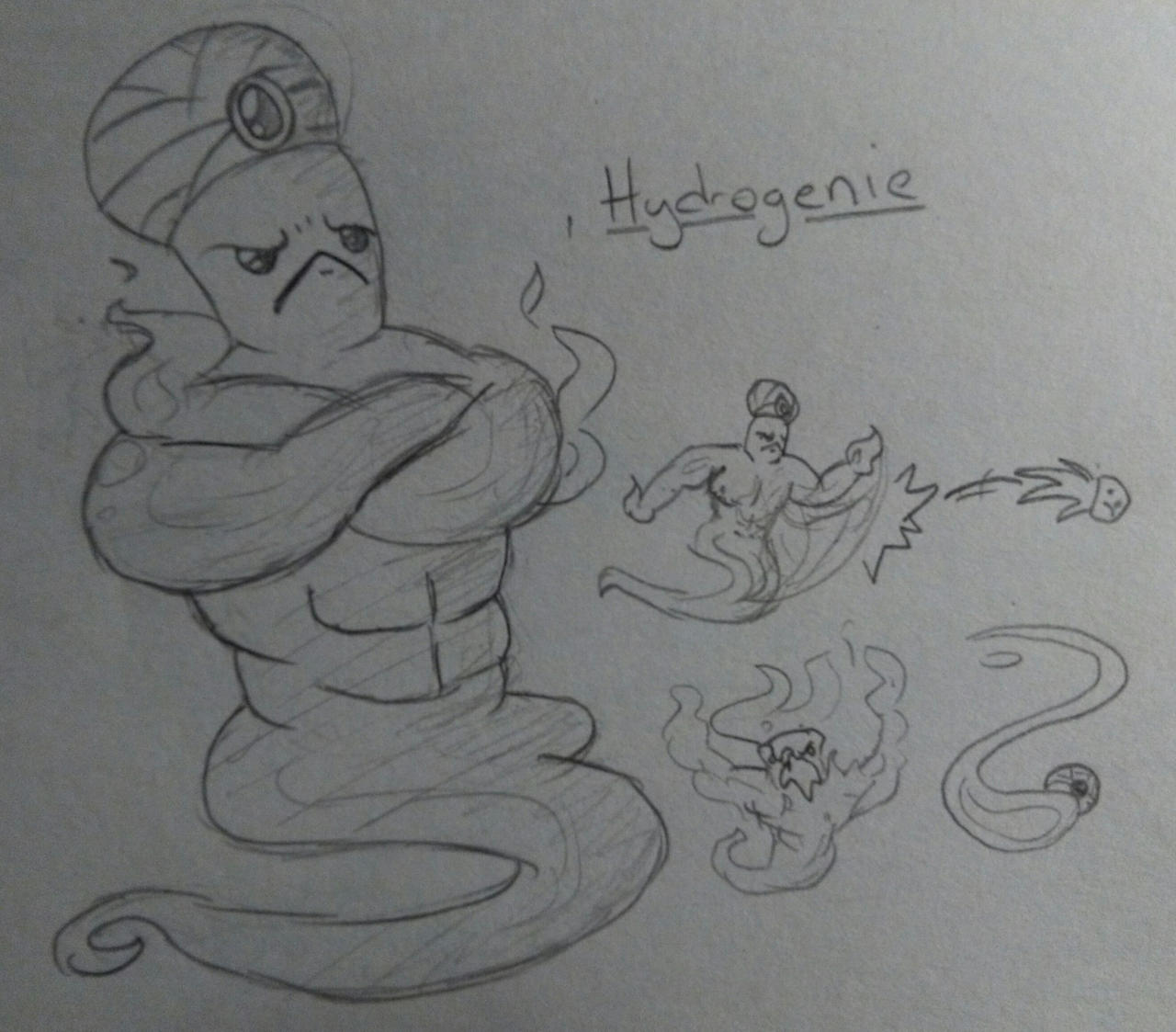Hydrogenie (Enter the Gungeon Enemy Idea) by Nevernamed22 on