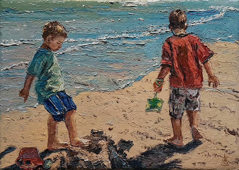 'Finishing Touch' Paintings by Dusan