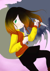 Someone`s Glitchtale OC by My-white-room