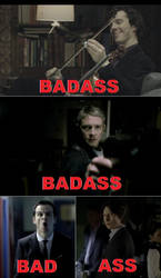 BBC Sherlock: Team Badass by DragonfireXAgent