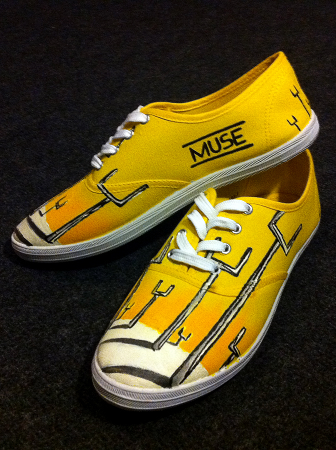 Jessman5 custom shoes. [Origin of Symmetry. MUSE] by Jessman5