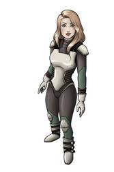 Lieutenant Commander Jessman5 in her new spacesuit by Jessman5