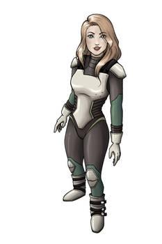 Lieutenant Commander Jessman5 in her new spacesuit