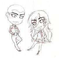 Kaldur and Blaze