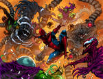 COMMISSION: SPIDER-MAN VS SINISTER SIX