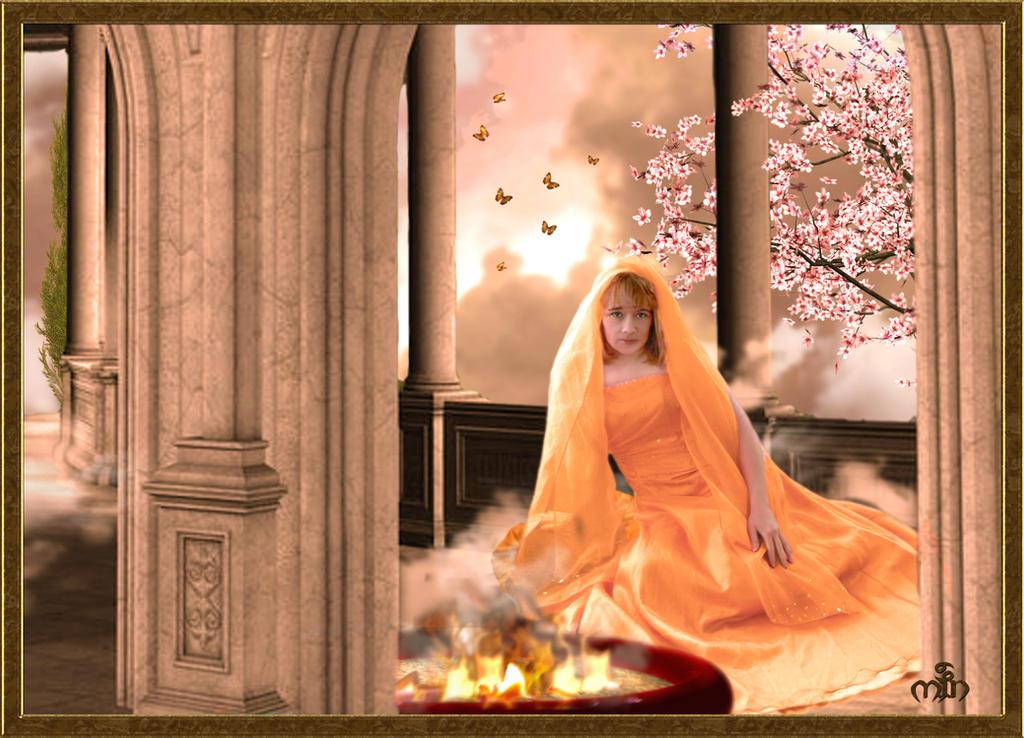 Hestia-Goddess of the hearth by Umina