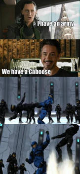 The Avengers have Caboose!!!!!