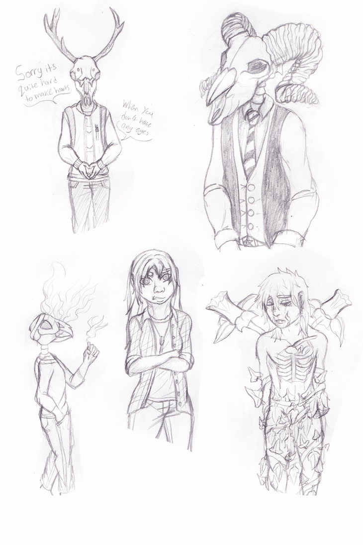 School Sketch Dump by emilyk949