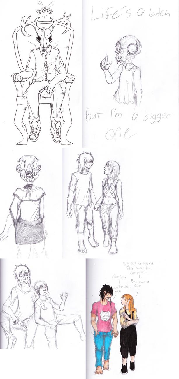 OC sketch dump by emilyk949