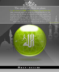 The orders of Allah in islam