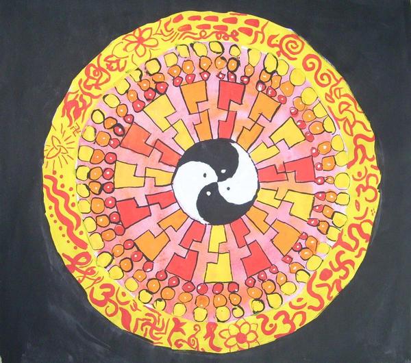 Mandala yin yang by Joeymontana