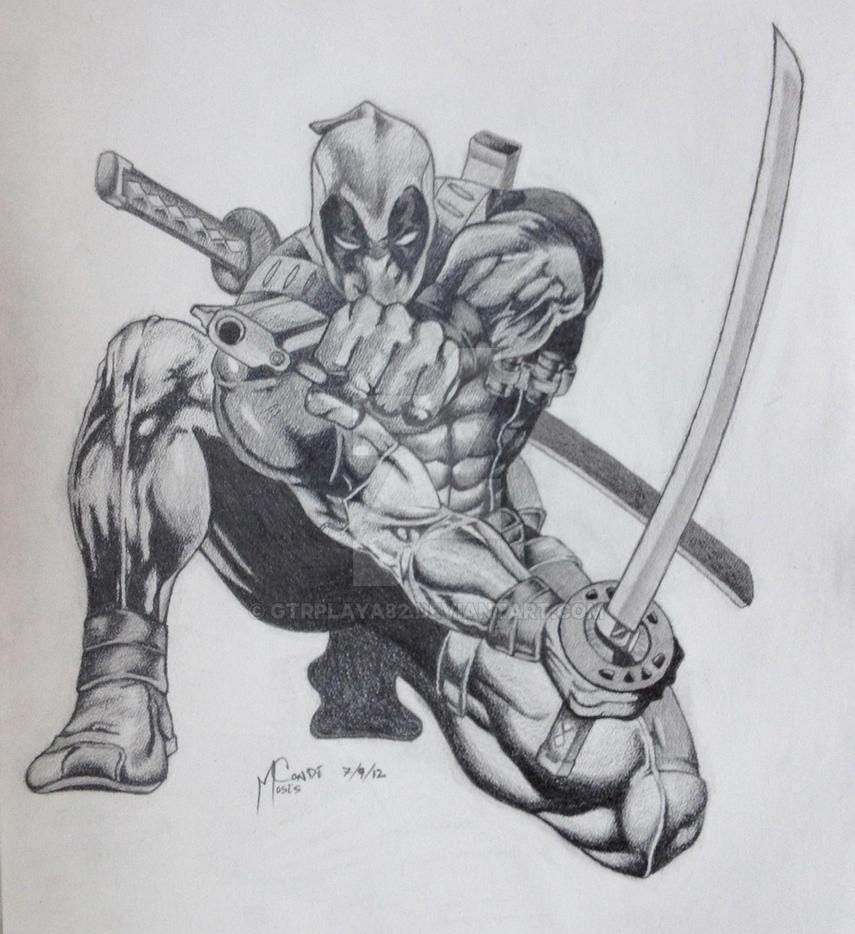 Deadpool Drawing by GtrPlaya82 on DeviantArt