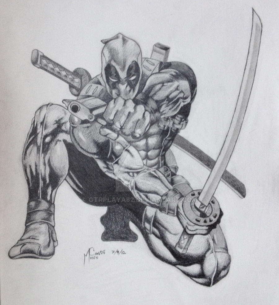 Deadpool Drawing by GtrPlaya82 on DeviantArtDeadpool Sketch