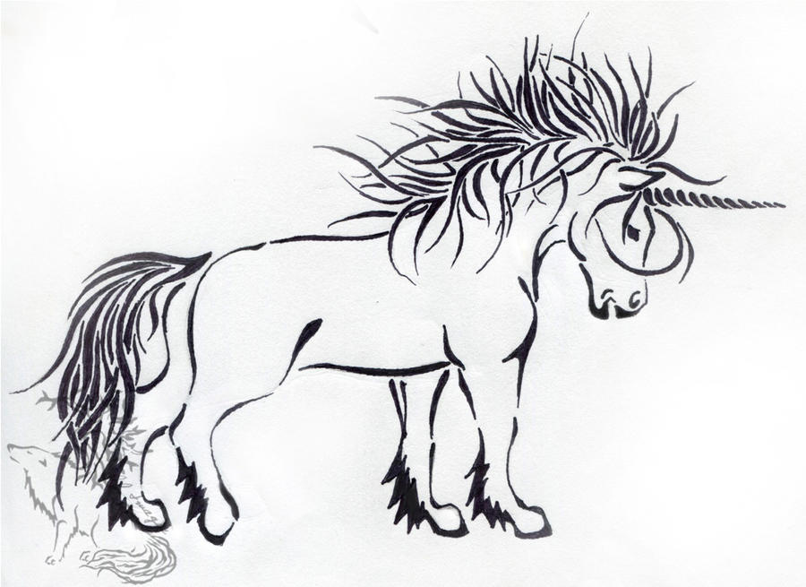 Pin Unicornio Tribal Tattoos Page 6 on Pinterest