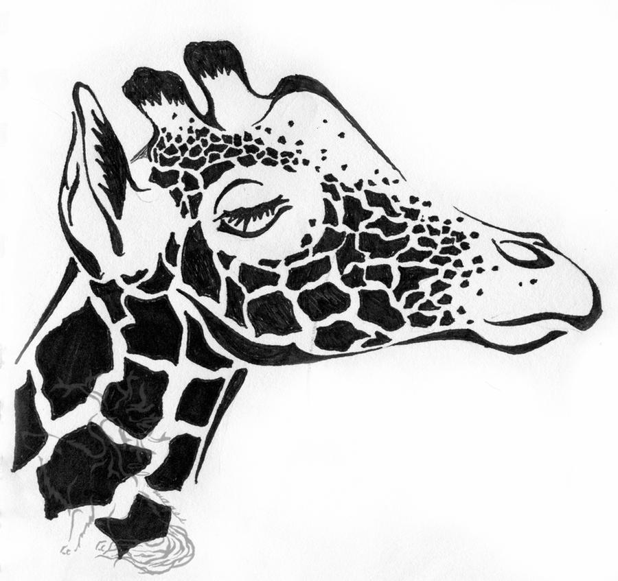 Tribal giraffe tattoo - photo#14