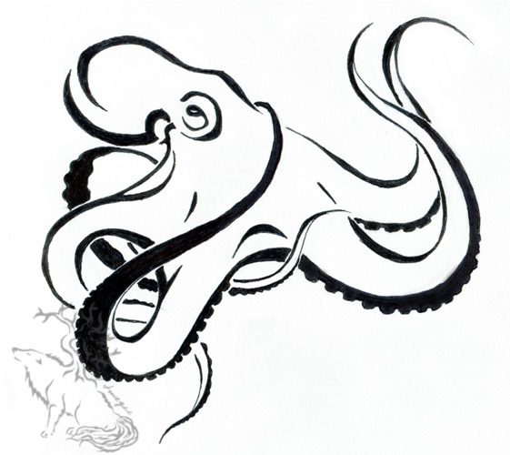 Octopus tattoo design by silverheartx on deviantart for Simple octopus drawing