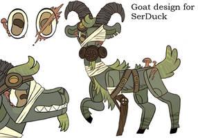goat design commission for SerDuck by lizzardblackrose