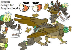 design commision for Acrylic-blood ! by lizzardblackrose