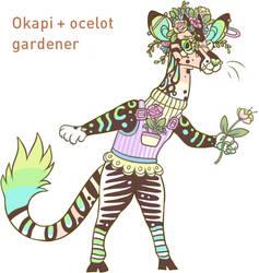 Okapi + ocelote design SOLD by lizzardblackrose