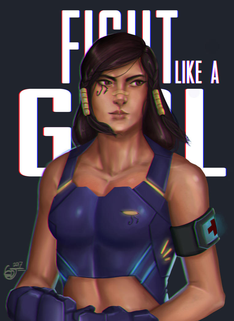 Fight Like a Girl by SaifuddinDayana