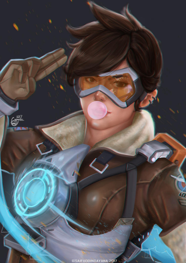 Tracer-Overwatch by SaifuddinDayana