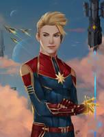 Captain Marvel by SaifuddinDayana
