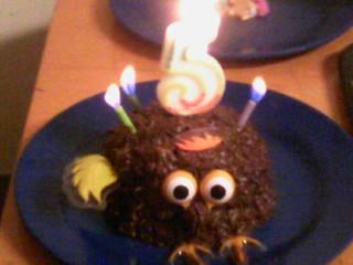 Bird Birthday Cake by zelda-zipple