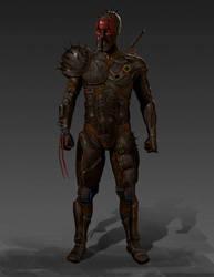 Doom warrior concept by weroidiota