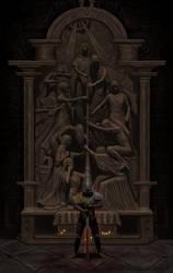 Blasphemous - Mea Culpa shrine poster