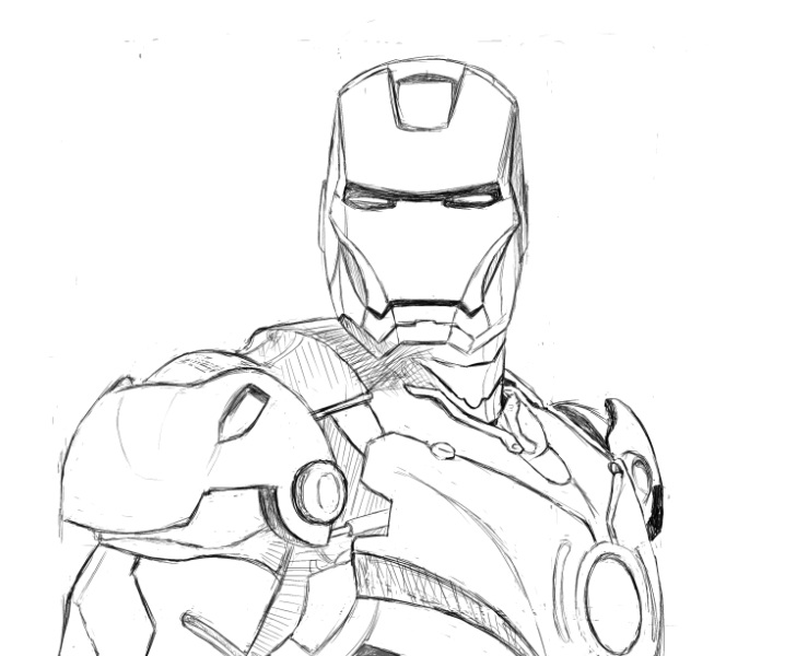 Iron man pencil stage by Iron Man Pencil Drawings