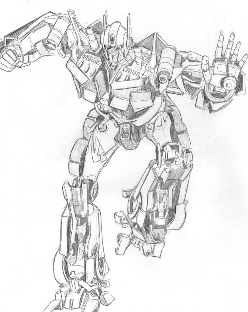 Optimus Prime pencil by psychoticorangejuice on DeviantArt