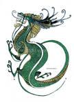 Tribal green dragon