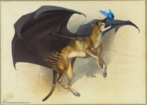 Tasmanian Flying Tiger by WhiteRaven90