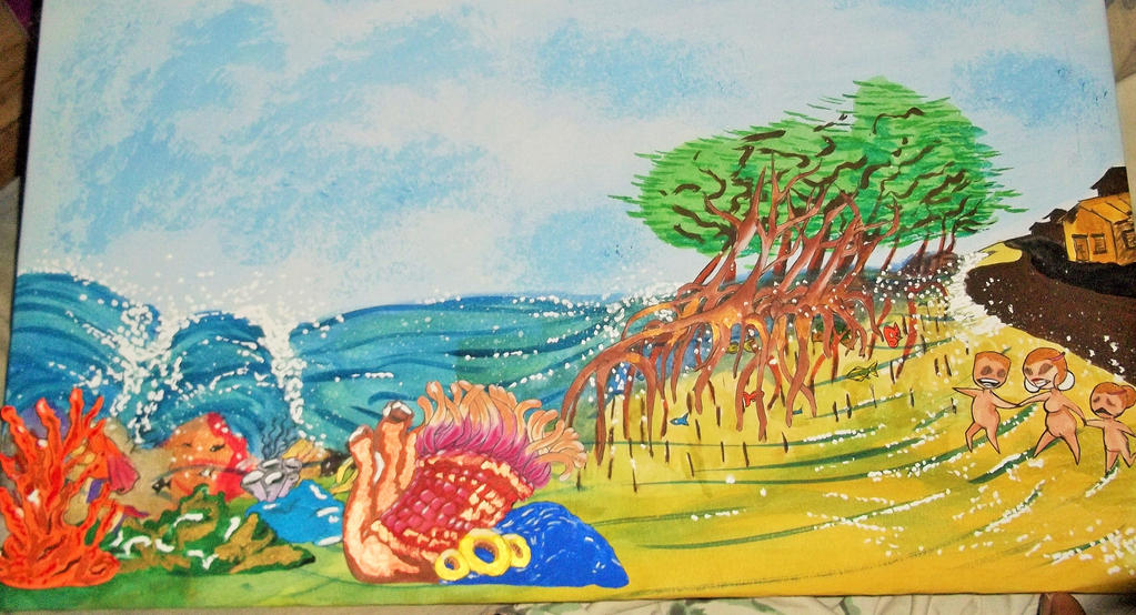 the reef and mangrove trees by sealotsgirl