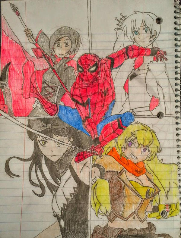Spiderman and RWBY Crossover by Sharkzero on DeviantArt