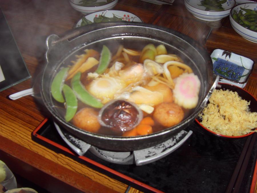 ... udon udon noodles kitsune udon three mushroom vegetarian nabeyaki udon