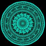 Mandala Series(Teal on Purple)
