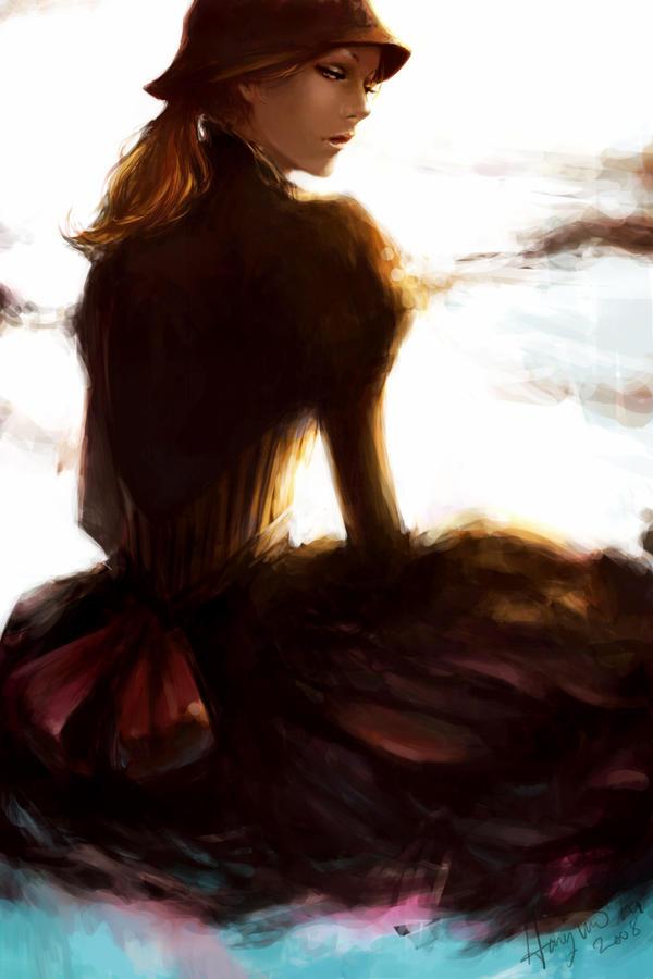 .glance back. by Tirael