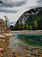 Bow River, Banff, AB 2 by DTherien