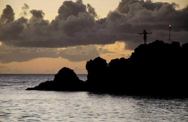 Maui Sunset Dive by DTherien