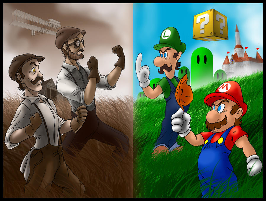 Mario Bros. VS Wright Bros. by SemajZ