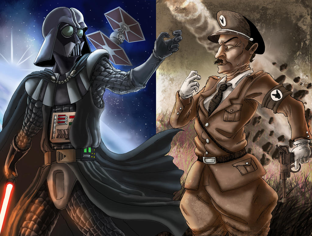 ERB Fan art: Adolf Hitler Vs. Darth Vader by SemajZ