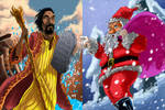 Fan Art: Moses Vs Santa Claus /work in progress