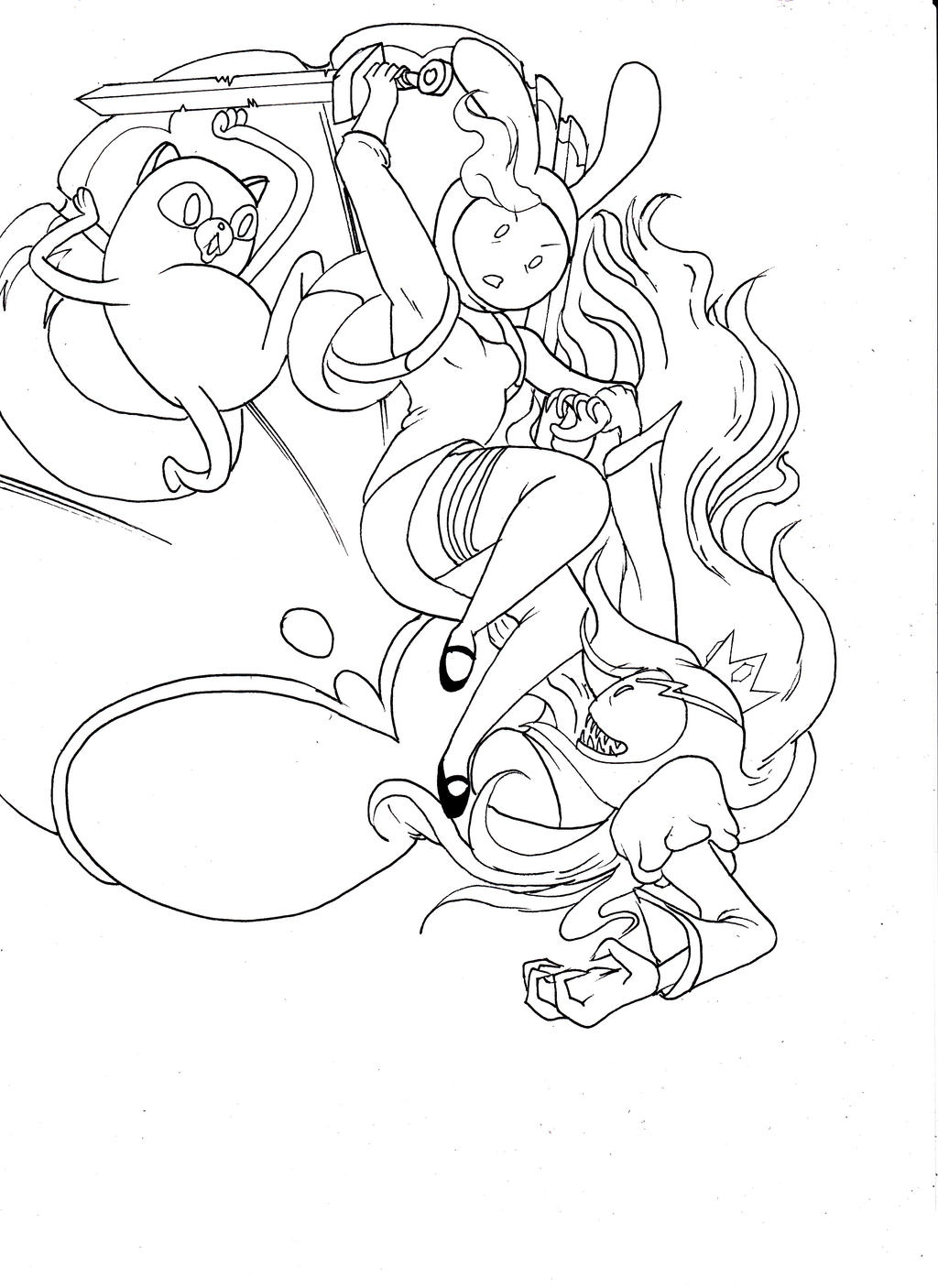 Adventure Time Fionna Line Art By Semajz Fionna And Cake Coloring Pages
